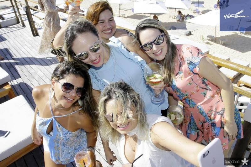 Giana Albuquerque, Cecilia Bezerra, Alessandra Rosado e Suzane Benevides