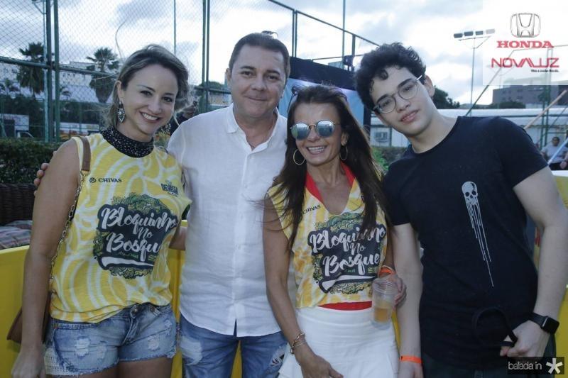 Izaura Parente, Eliseu Barros, Claudia e Arthur Bezerra