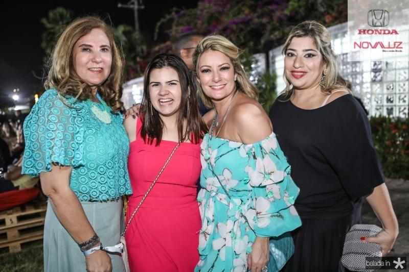Joria Araripe, Ticiana Brigido, Tatiana Luna e Manu Romcy