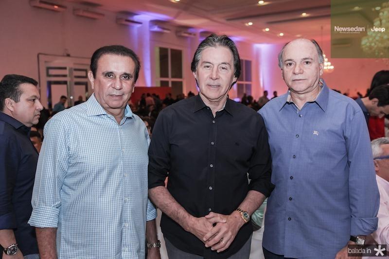 Gaudencio Lucena, Eunicio Oliveira e Inacio Barreira
