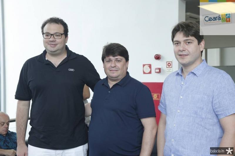 Thiago Facanha, George Lima e Rosalvo Carneiro