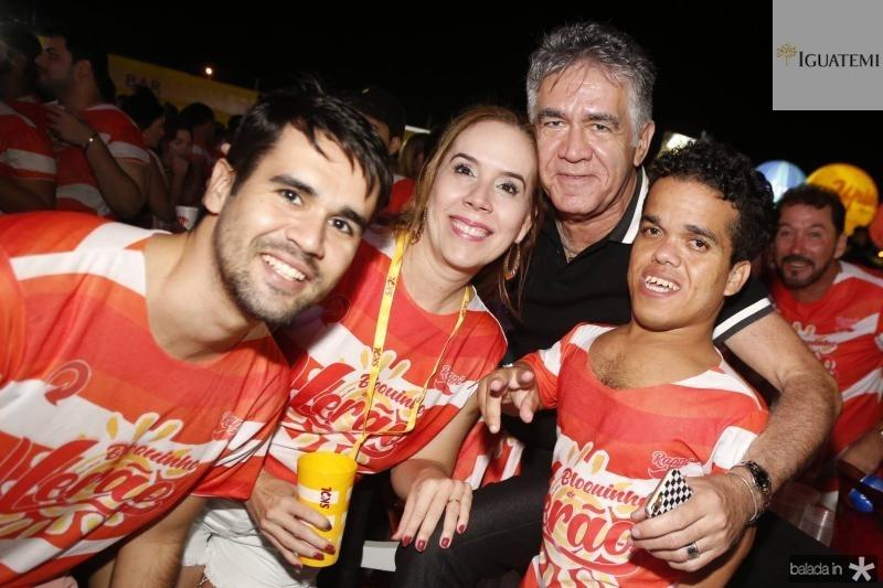 Lucas, Luciana e Alfredo Pearce e Juninho Anao