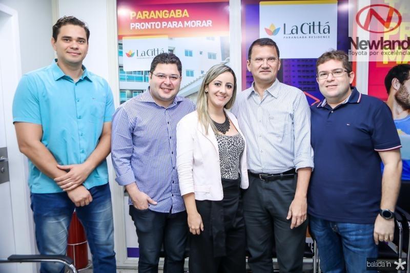 Mario Luciano, Heriberto Morais, Livia Menezes, Eduardo Pimentel e Vander Jamil