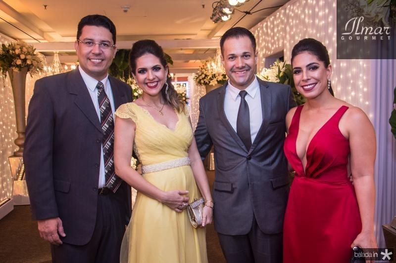 Rafael Athayde, Virginia Carneiro, Silvio Carneiro e Renata Sandy