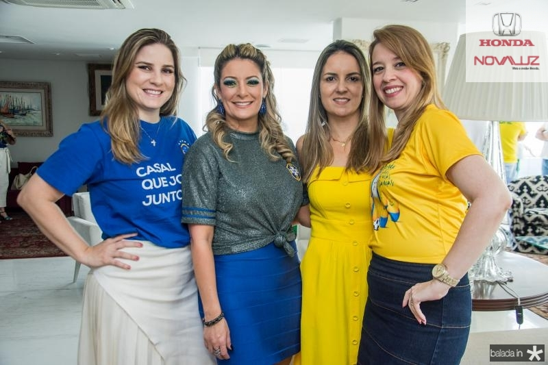 Maria Clara Dallolio, Tatiana Luna, Raquel Vasconcelos e Marina Vale