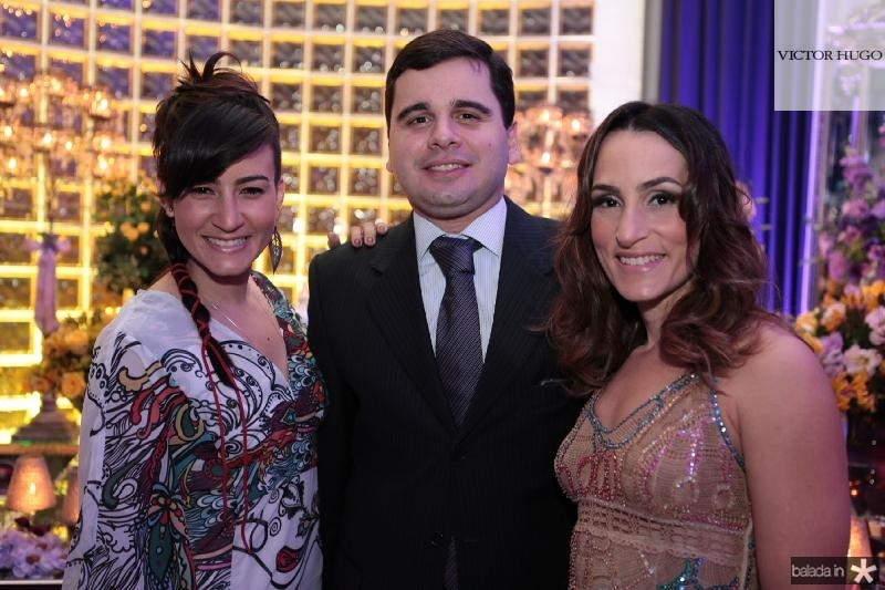 Joana Sales,Pedro e Bianca Meneleu
