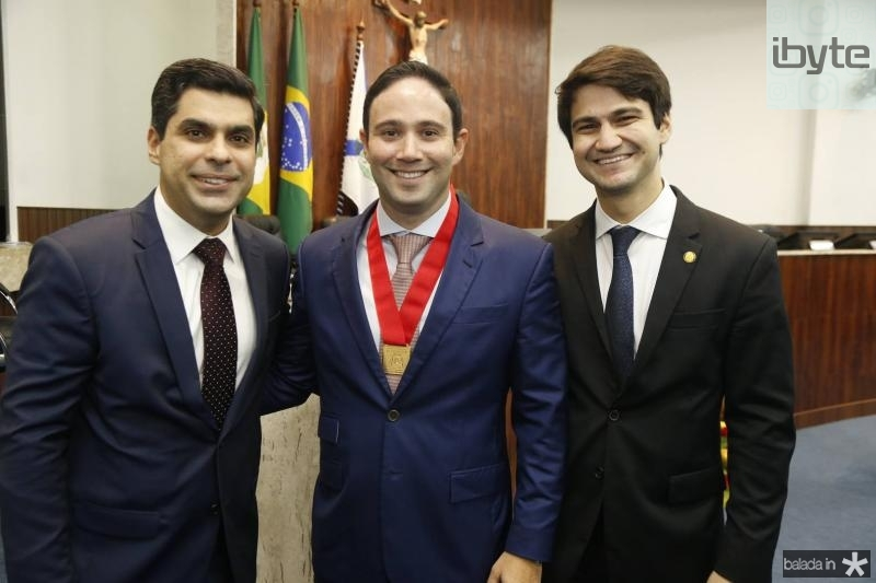 Queiroz Neto, Thiago Asfor e Pedro Gomes de Matos