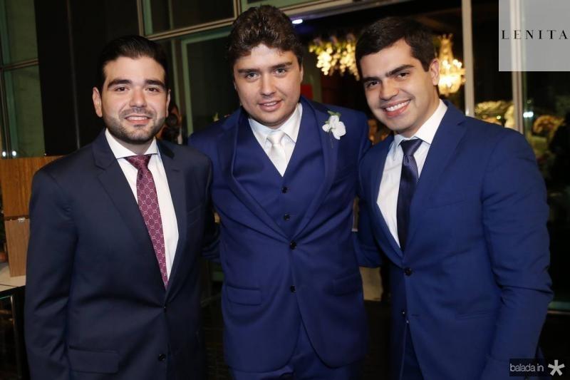 Stenio Suleiman, Igor Linhares e Pedro Garcia