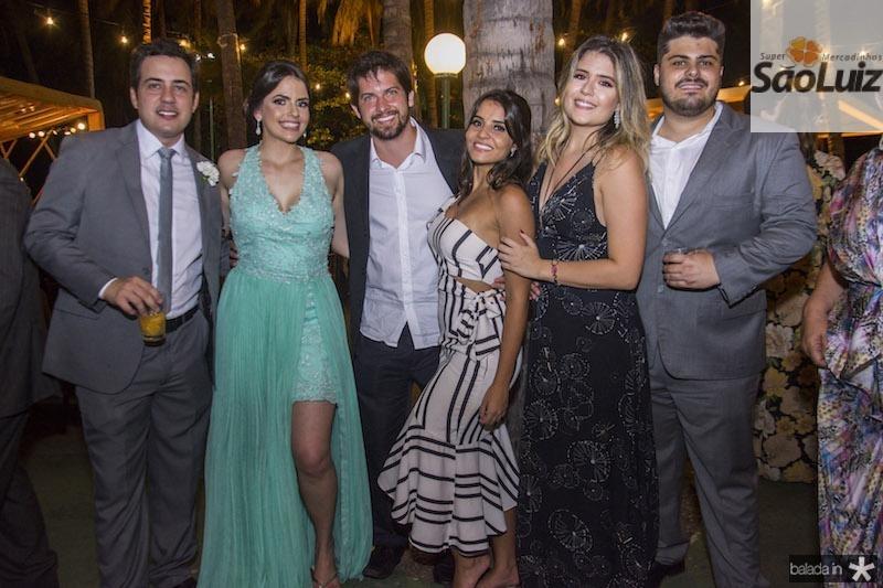 Davi Cavalcante, Marilia Rabelo, Gregorio Brito, Paula Camara, Jade Albuquerque e Lucas Paraiso