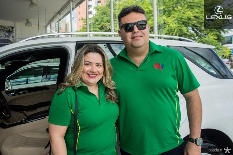 Karla Pampone e Marcos Junior