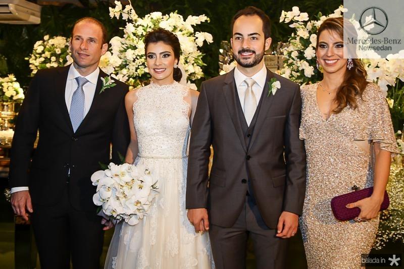 Andre Parente, Beatriz Pontes, Felipe Barreira e Ticiana Parente