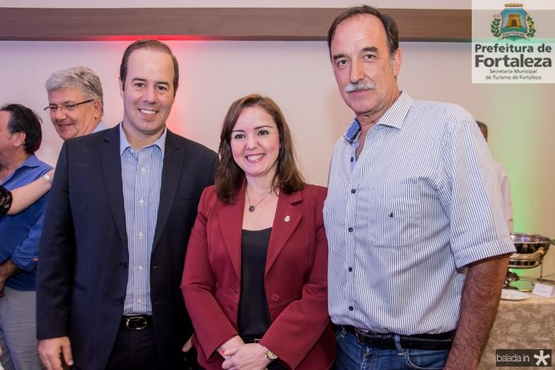 Cesar Ribeiro, Nicole Barbosa e Armando Abreu