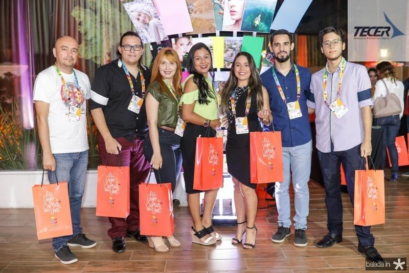 Roberto Pontes, Antonio Elmo, Jessica Araujo, Maria Aline, Nayara Kedma, Francisco Venancio e Clovis Ximenes