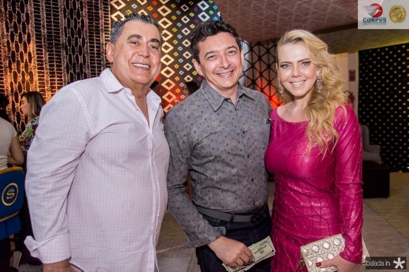 Adroaldo Carneiro, Racine Mourao e Branca Mourao