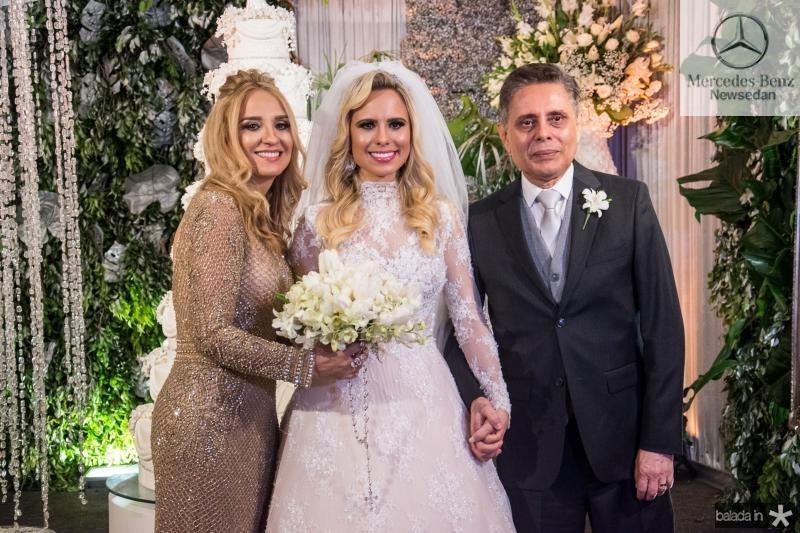 Maria Bethrose Araujo, Lohana Fontenele e Walter Araujo
