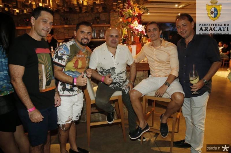 Andre Camurca, Xandi Timoteo, Rogerio Junior, Marcelo Marfrutas e Ariston Araujo