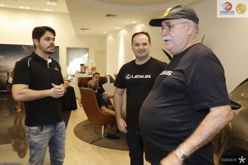 Pedro Lima, Glauco Feitosa e Luiz Gonzaga Pereira