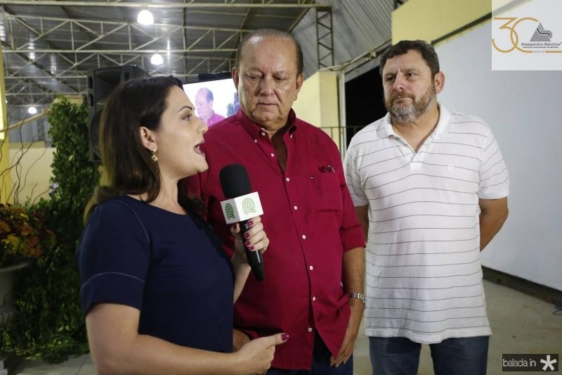 Flavia Macedo, Rafael Leal e Marcelo Sarmento