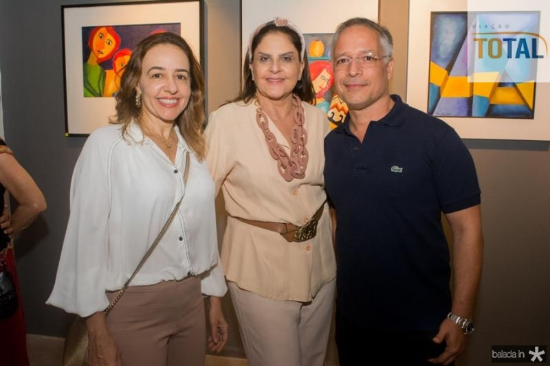 Floritza Vasconcelos, Celina Fiuza e Heldon Bezerra