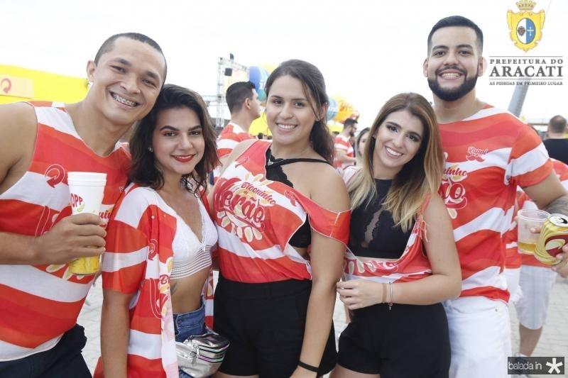 Pedro Moura, Simara Carvalho, Jessica Leitao, Larisse Santiago e Pedro Barroso