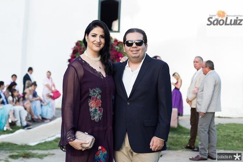 Isabelle Moraes e Michel Suleiman