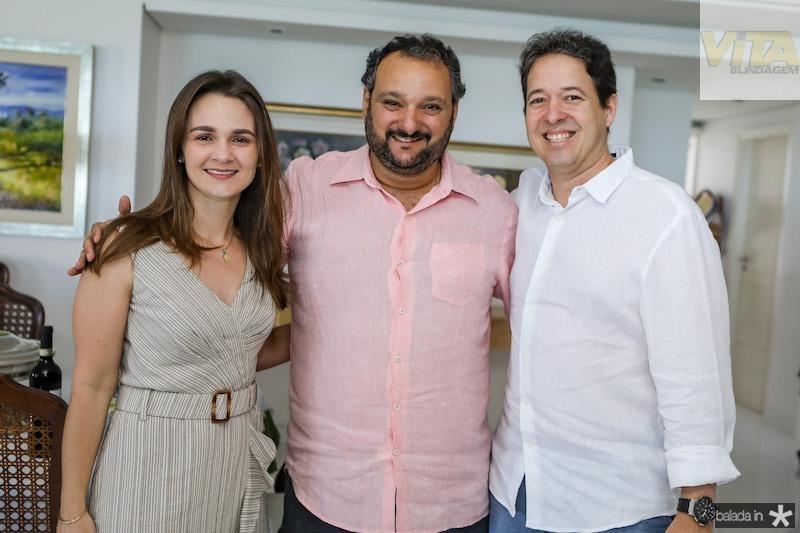 Marina e Adriano Marques com Patriolino Dias
