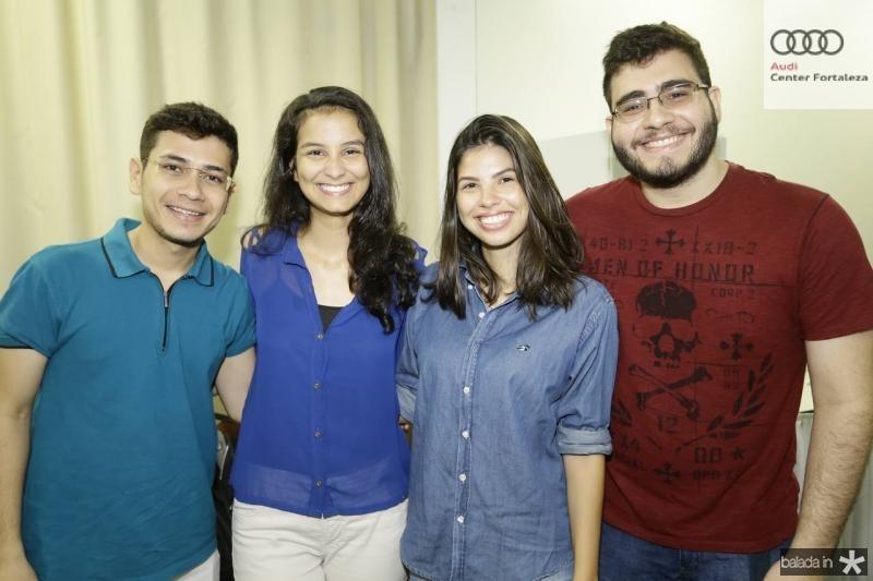Douglas Madeira, Luana Menezes, Sarah Loss e Leonardo Bessa