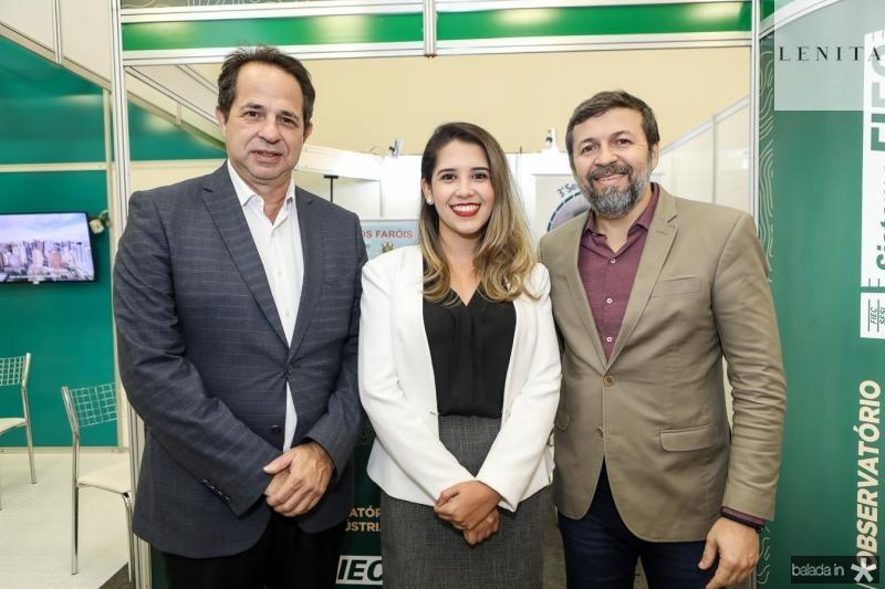 Milton Cunha, Edivania Brilhante e Elcio Batista