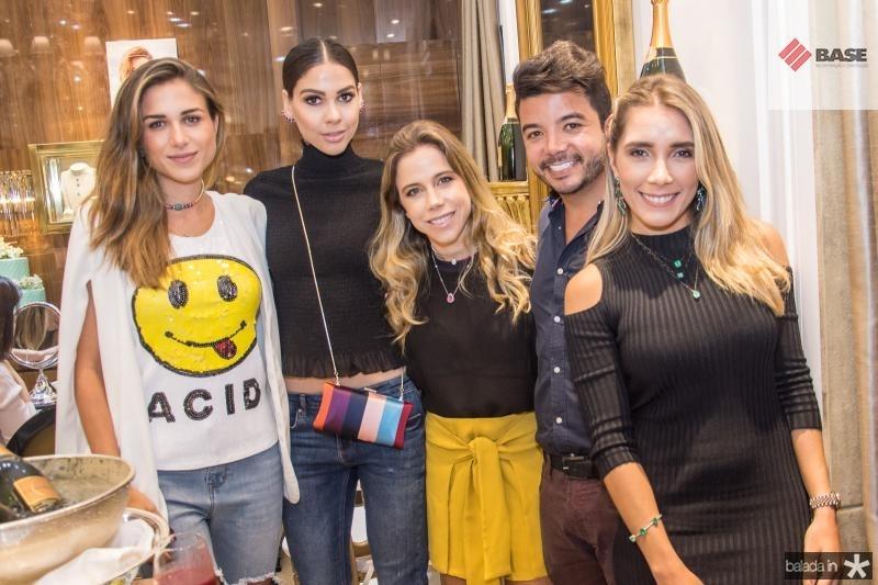 Alix Pinho, Mirelle Vasconcelos, Mirella Rocha, Rafael Gualberto e Nicole Benevides