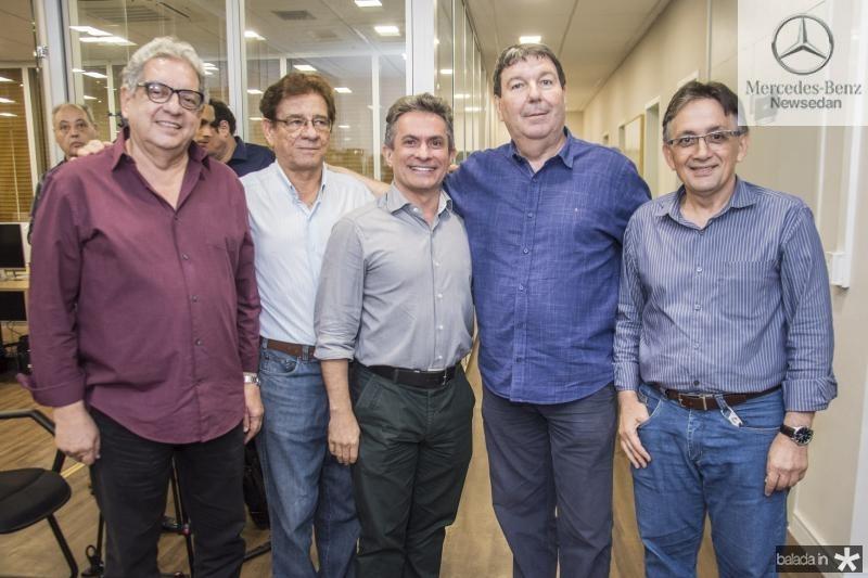 Fred Fernandes, Elias do Carmo, Benildo Aguiar, Heitor Studart e Ribamar Carneiro