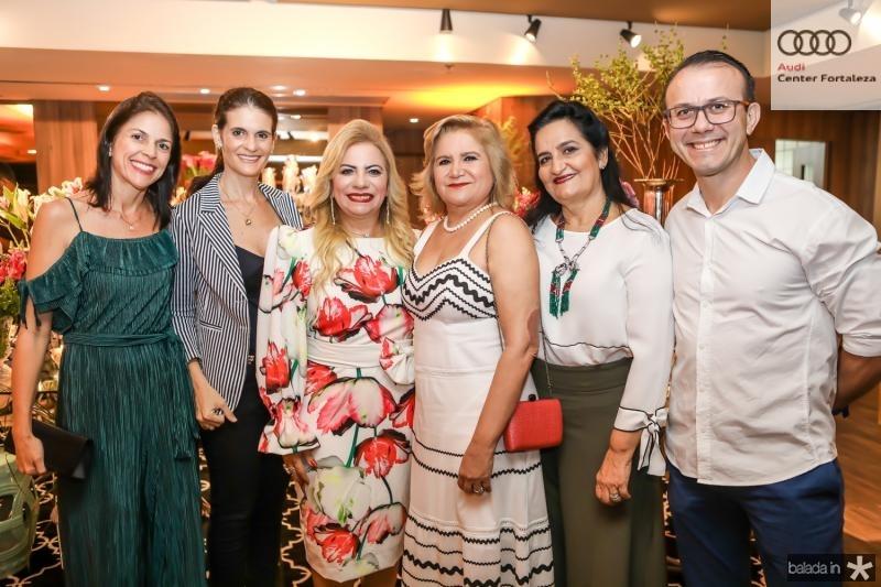 Cibelle Parreiras, Daniele Araujo, Solange Maia, Dulce Silveira, Chaguinha Silveira e Fausto Martins