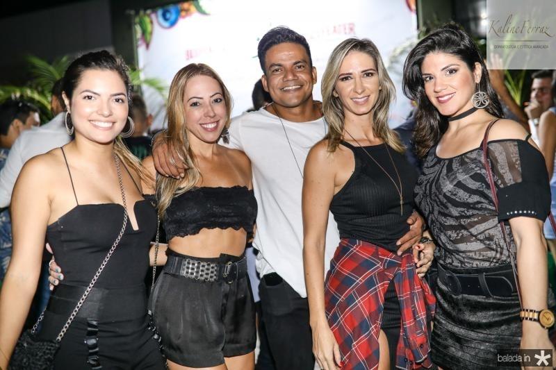 Amanda Vasconcelos, Carol Firmeza, Netinho Rodrigues, Cinara Teixeira e Natalia Porto