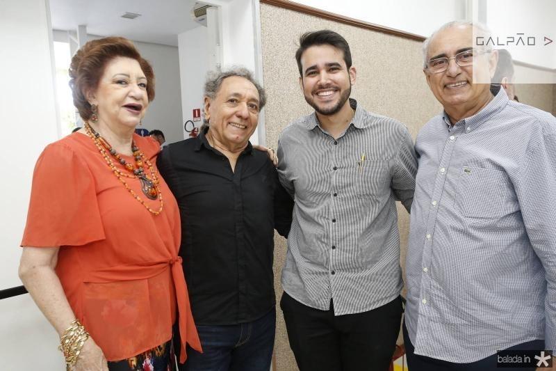 Maze Campos, Rogerio Aguiar, Cabral Neto e Bosco Macedo