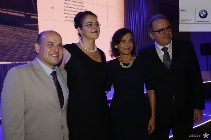 Roberto Claudio, Luciana Dummar, Izolda Cela e Democrito Dummar