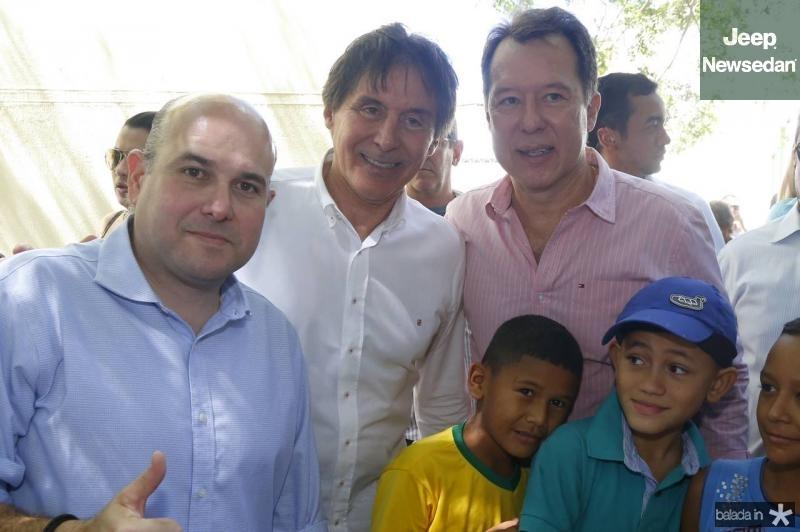 Roberto Claudio, Eunicio Oliveira e Carlos Fujita