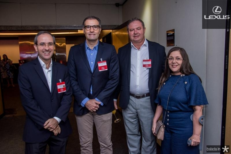 Sergio Resende, Eduardo Figueiredo, Carlos Henrique e Maria Elenira Viana
