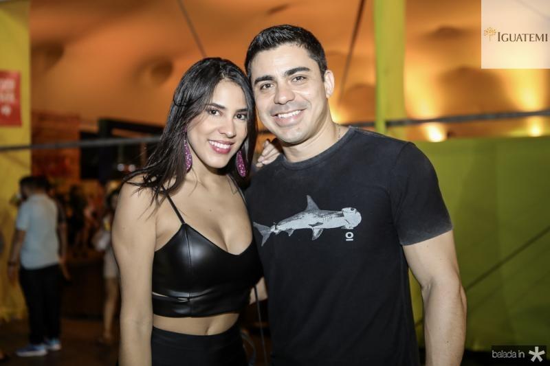 Aline Xerez e Eduardo Feitosa