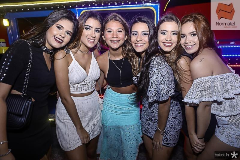 Isadora Resende, Livia Saraiva, Isadora Linhares, Lara Menezes, Lara Parente e Raissa Frota