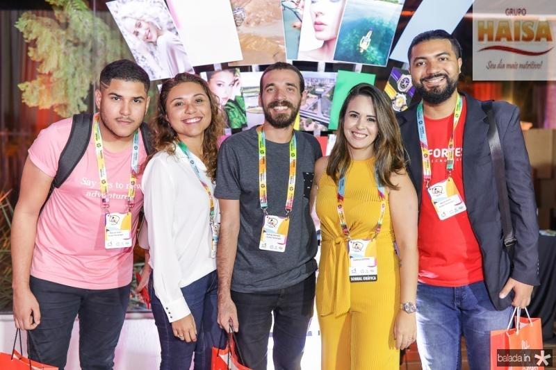 Marcos Costa, Myrna Lopes, Rodrigo Azevedo, Camila Giffone e Marcelo Alves