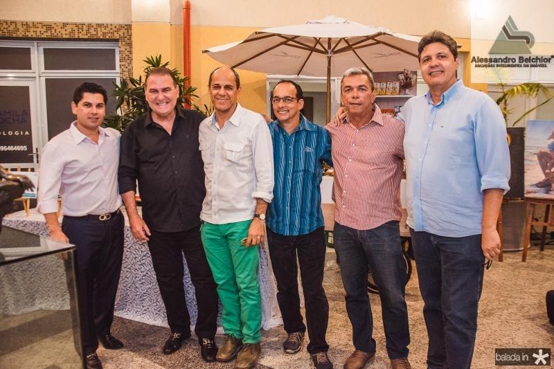 Pompeu Vasconcelos, Jorio da Escossia, Mano Alencar, Ricarto Tavares, Edmar Goncalves e Marcos Oliveira
