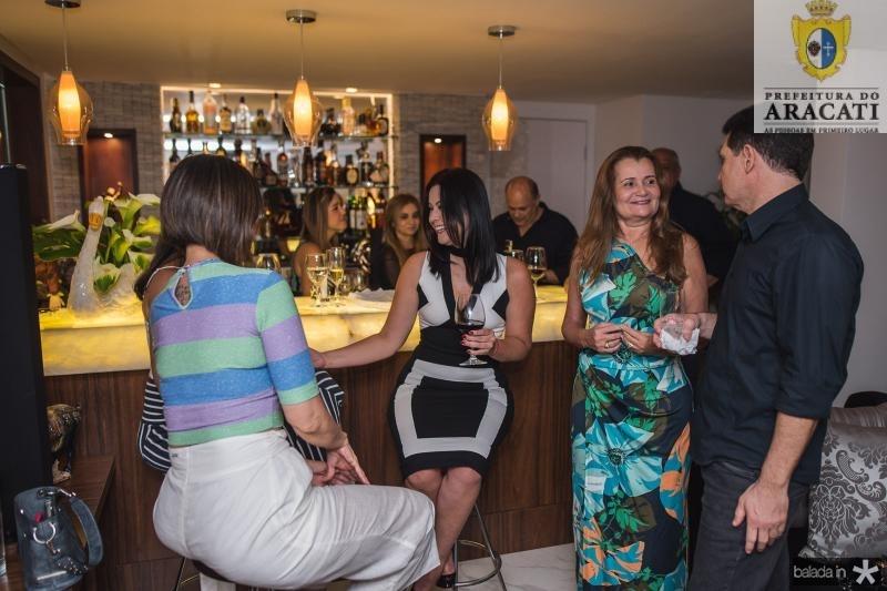 Carla Sleiman, Cynara Rodrigues, Fatima Moraes e Claudio Regis