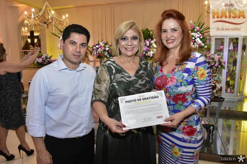 Pompeu Vasconcelos, Priscila Cavalcanti e Enide Camara