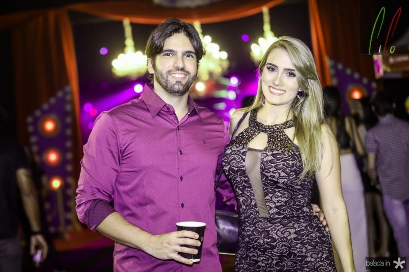 Daniel Cabo e Caroline Arnot