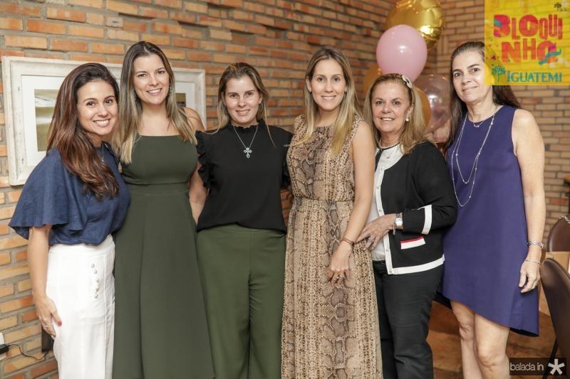 Claudiana Loureiro, Lurdinha Brasil, Adriana Loureiro, Paula Rolim, Lucilia Loureiro e Isabella Brasil