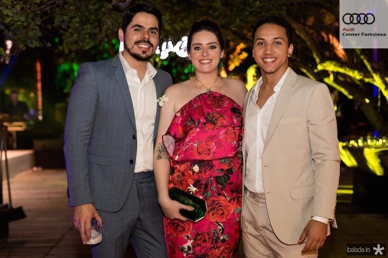 Pedro Ximenes, Renata Brito e Matheus Costa
