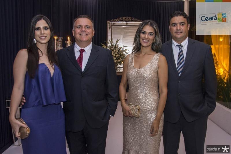 Maritza Bastos, Roberto Bastos, Elena Odisio e Alan Nascimento