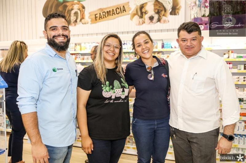 Geroge Sousa, Barbara Sara, Karina Barbosa e Fernando Motta