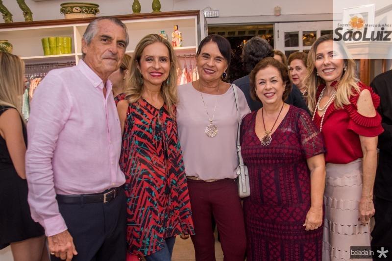 Alfredo Gurjao, Madalena Rego, Sonia Machado, Julia Philomeno e Clara Moreira
