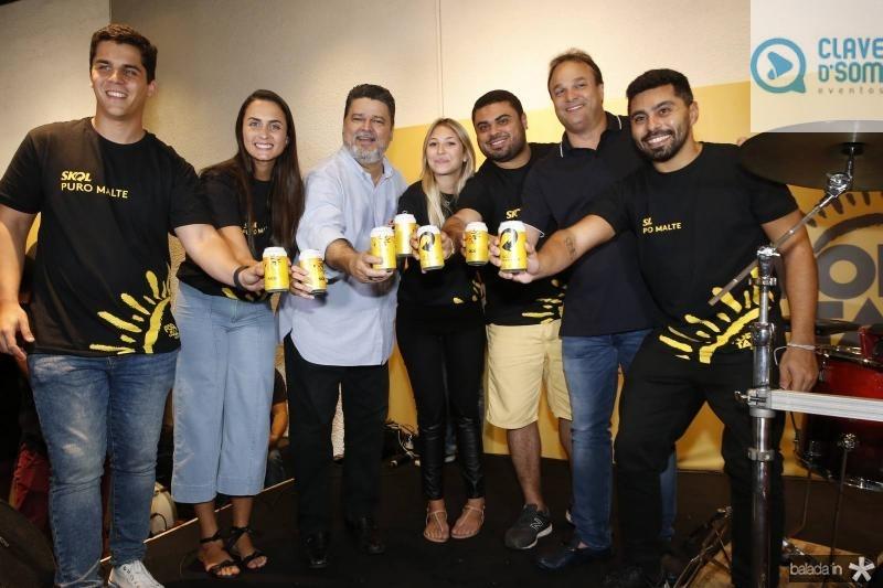 Fernando Melo, Mariana Rech, Colombo Cialdini, Isabel Frozini, Julio Filho, Enio Cabral e Renan Carvalho