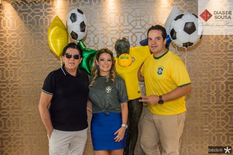 Dito Machado, Tatiana Luna e Thiago Holanda